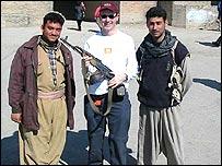 Stuart Hughes in Kurdistan during the Iraq war