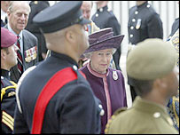 The Queen at the ceremony