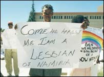 Lesbian in Namibia (photo: IGLHRC)