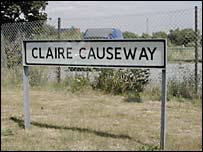 Sign for Claire Causeway