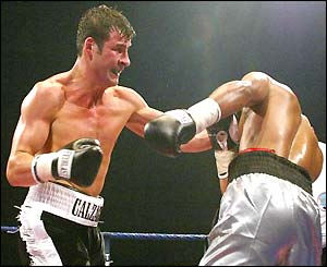 Joe Calzaghe lands more punches on Byron Mitchell