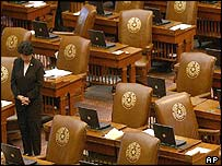 Deserted Texas House of Representatives