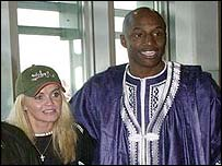 Danniella Westbrook and John Fashanu