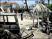Bali bomb scene, October 2002