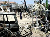 Bali bomb scene, October 2002