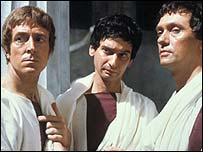Actors from a BBC production of Julius Caesar