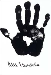 bbc news africa mandela s hand of africa on show