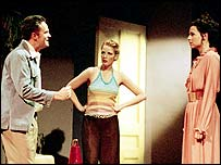 Matthew Perry, Kelly Reilly and Minnie Driver, picture by Manuel Harlan