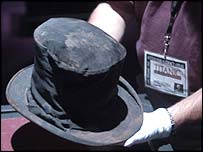 Top hat recovered from Titanic wreck