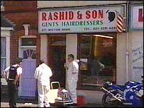 The shooting happened outside Rashid & Son