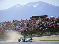 Pedro de la Rosa's Jaguar at last year's Austrian Grand Prix