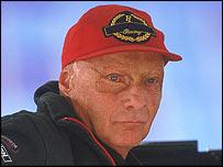 Austrian former F1 driver Niki Lauda