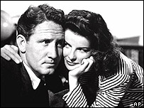 Spencer Tracy and Katharine Hepburn