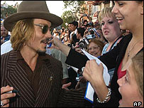 Johnny Depp and fans