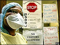 A care worker in Toronto during the most recent Sars outbreak