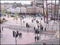 City junction in Bristol