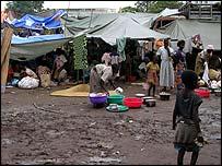 Beseiged Monuc (UN) compound in Bunia