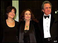 Johnny Cash with his daughter Roseanne Cash (left) and June Carter Cash