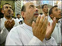 Shia Muslims at prayer