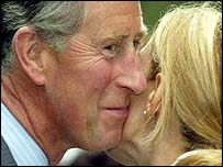 Prince Charles receives a kiss from an admirer