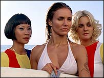 Lucy Liu, Cameron Diaz and Drew Barrymore