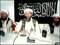 (Form left) Ayman al-Zawahiri, Osama Bin Laden and Mohammed Atef