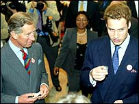 Princes Charles and William