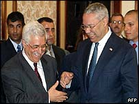 Abu Mazen and Colin Powell