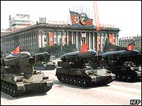 North Korean tanks