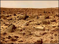 Martian landscape, Nasa