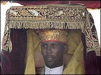 An Ethiopian priest carries a tabot