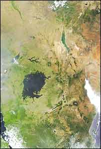 Satellite image of Rift Valley   Nasa