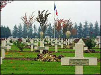 WWI battle graves