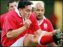 Pierre Hola in action for Tonga