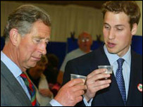 Princes sampling the liqueur