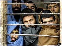 Taleban prisoners in Afghanistan