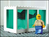 The Little Artist's Lego copy of Damien Hirst's Shark in Formaldehyde