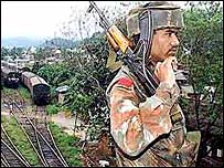 Indian paramilitary soldier in Assam