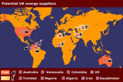Energy sources map   BBC