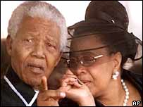 Nelson Mandela and wife Graca