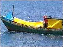 A refugee boat