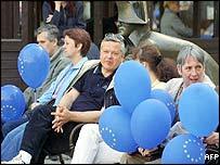 Slovak supporters of EU membership