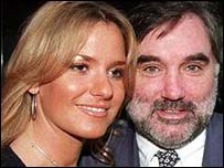 George Best and his wife Alex