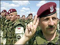 Polish troops