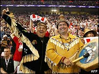 Native Canadians celebrate