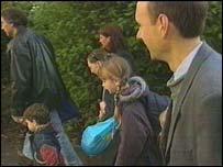 Parents with schoolchildren