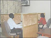 A view of the call centre