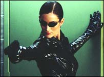 Carrie-Anne Moss as Trinity, Warner Brothers