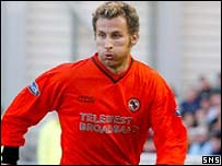 Daniele Chiarini in action for Dundee United