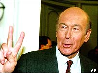 Valery Giscard d'Estaing in 1993